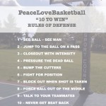 "PeaceLoveBasketball Friday: ""10 to Win"" Rules of Defense"