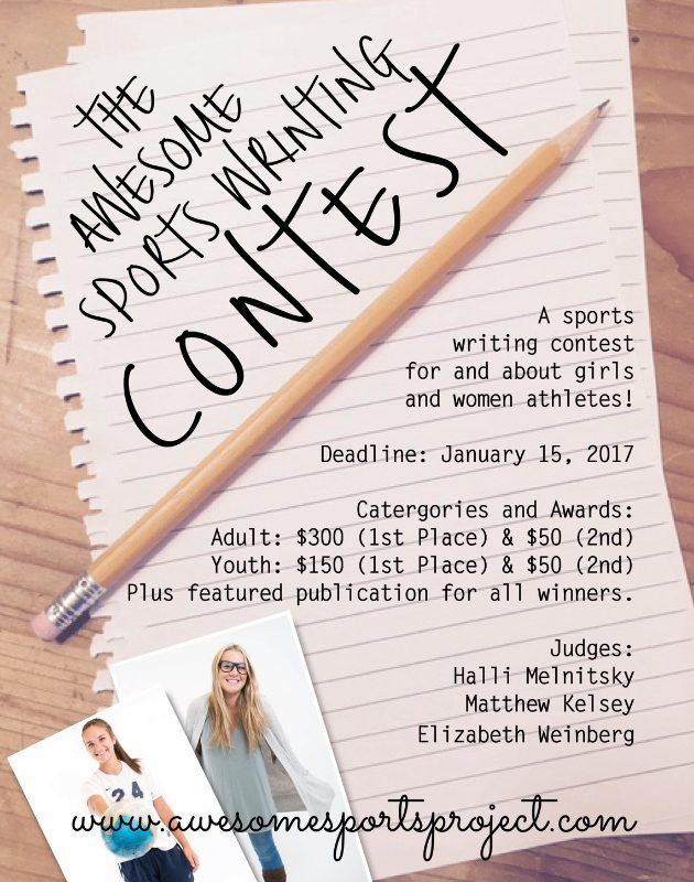 PeaceLoveBasketball Friday: AWESOME SPORTS PROJECT writing contest